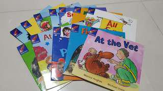 🚚 (#CHEAP SALE#) Pre-sch English Reading books by Rigby Rocket (Pink series)