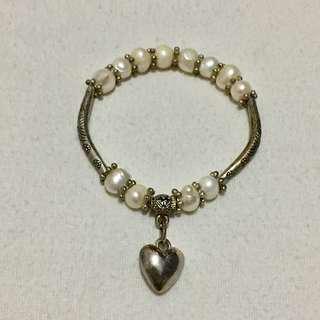 White Bracelet With Heart