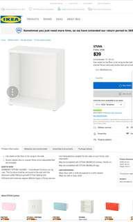 IKEA Children Shelving Unit (White)