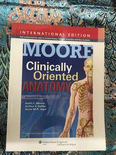 Moore's Clinically Oriented Anatomy Medical Textbook 7th Edition