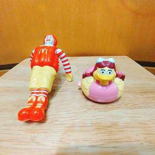 絕版 1999年 麥當勞叔叔 小飛飛 划水玩具 公仔 Figure