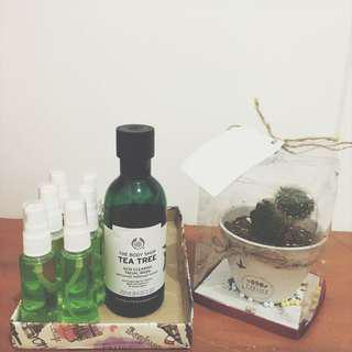 Facial wash the body shop tea tree share in bottle 40ml