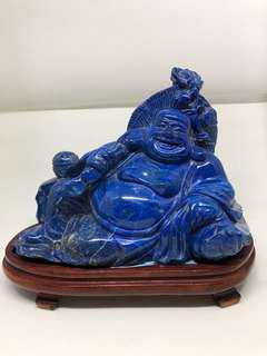 Laughing Buddha lapis ! 青金石弥勒佛,純手工雕刻.