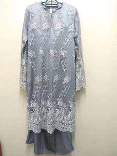 Baju Nikah Set L+P = Grey