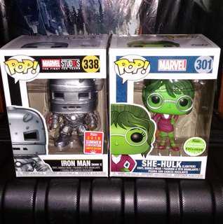 Iron Man Mark 1 & She-Hulk Lawyer Marvel Funko Pop Bundle