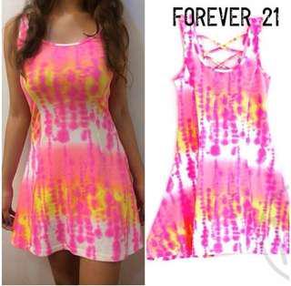 Branded Overrun F21 Pink Splash Dress