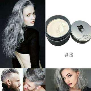 DIY Temporary Hair Dye Cream Grandma Grey Hair Color Wax Mud