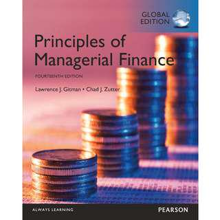 Principles of Managerial Finance 14th Global Edition, solution manual available