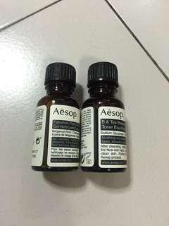 Aesop cleanser and toner