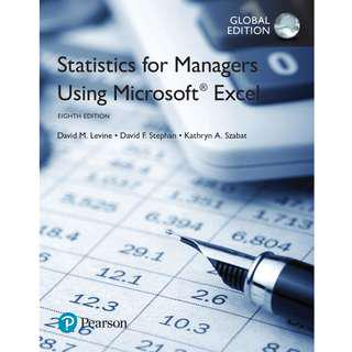 Statistics for Managers Using Microsoft Excel 8th Global Edition