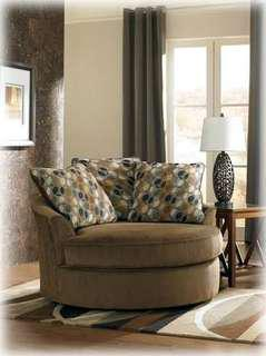 Ashley Upholstered Swivel Accent Sofa Chair
