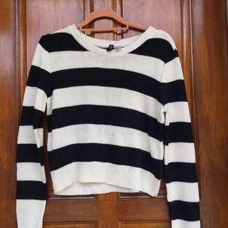 H&M Stripes Knit Sweatshirt
