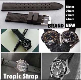 Tropic style diver watch strap band