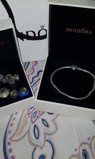 Pandora authentic bracelet 2and muranos
