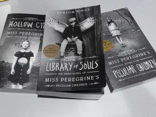 3 x Miss Peregrine's Books