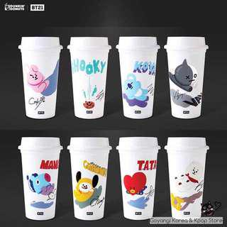 [instock] bts bt21 x dunkin donuts reusable cup