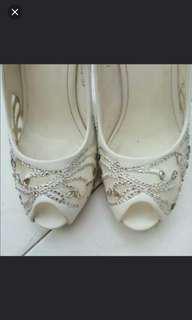 Auth Anna Nucci Wedding Heel