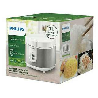 PHILIPS Rice Cooker 1L HD3126/33 - Silver