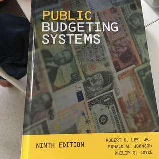 Textbook public budgeting systems