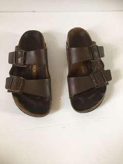 Birkenstock Arizona Sandals EU 39 Dark Brown Leather Women's Size L 8