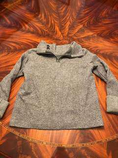 Club Monaco grey quarter zip sweater. Size medium.