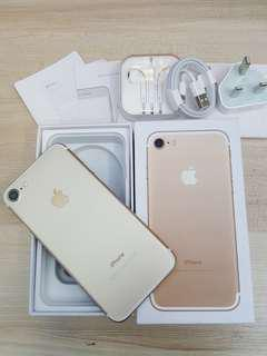 Iphone 7 gold 32gb fullset box