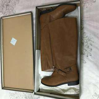 Charles & Keith Brown Knee Boots