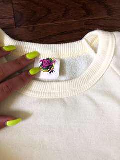 Vintage Yellow Crop Sweater