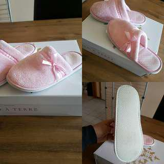Pink summer slippers