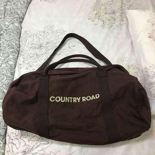 Country Road Brown Canvas Logo Tote