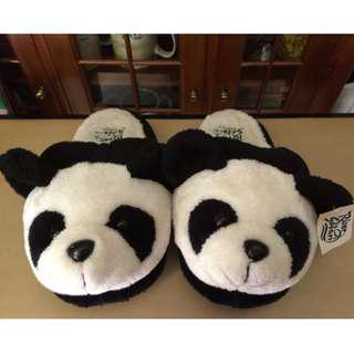 River Safari Adult Panda Slippers