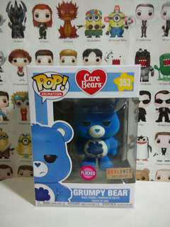 Funko Pop Flocked Grumpy Bear Boxlunch Exclusive Vinyl Figure Collectible Toy Gift Movie Cartoon Care Bears