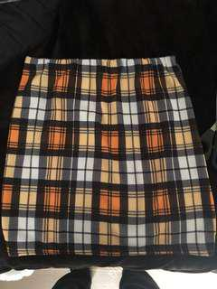 Pretty Little Thing Check Skirt