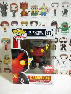 Funko Pop 52 Reverse Flash Fugitive Toys Exclusive Vinyl Figure Collectible Toy Gift Movie Comic Super Hero DC