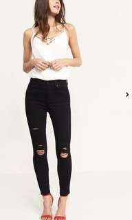 Dynamite black high waisted rip jeans