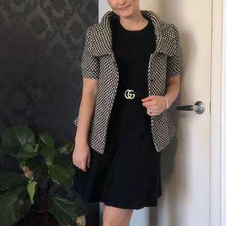 Bardot wool poly swing top - size 8-10