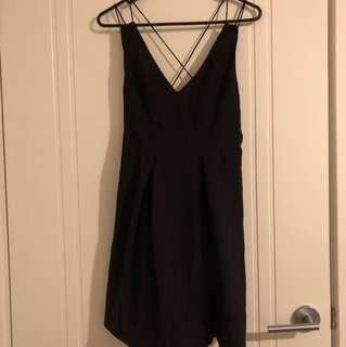 Black cross back Skater Dress