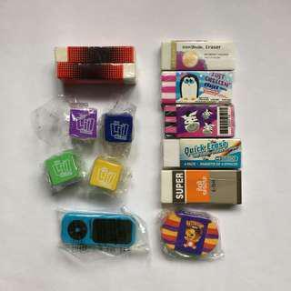 Erasers - 13 Piece