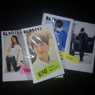 [ price reduced !! ] snsd yuri / infinite l / exo suho