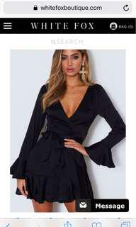 Black White fox dress