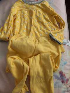 PL Uniqlo yellow duck pj (90cm)