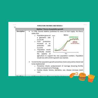 Olevel geog notes: food resources