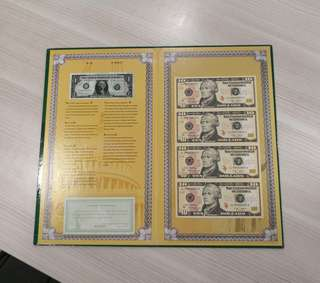 🇺🇸 USA $10 Uncut 4 In 1 Banknote