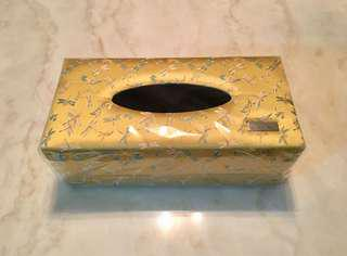 Silk fabric facial tissue box
