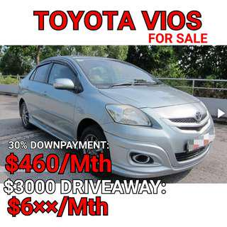 Toyota Vios. Rental or For Sales. 💯% LOAN APPROVAL.