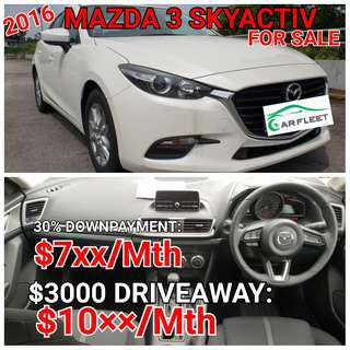 Mazda 3 Skyactiv. Rent or For Sales.. 💯% LOAN APPROVAL.