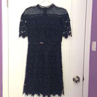 Sassi Dress / Elegant Navy Dress