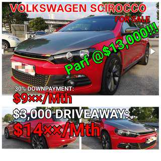 Volkswagen Scirocco. Rental or For Sales. 💯% LOAN APPROVAL.