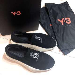 Y3二手9成新正品 黑色懶人鞋 襪套鞋 休閒鞋 簽名經典款 購於杜拜 中性鞋款男女可穿 40號 Y-3