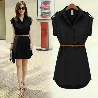 🌹Polo Belt Dress